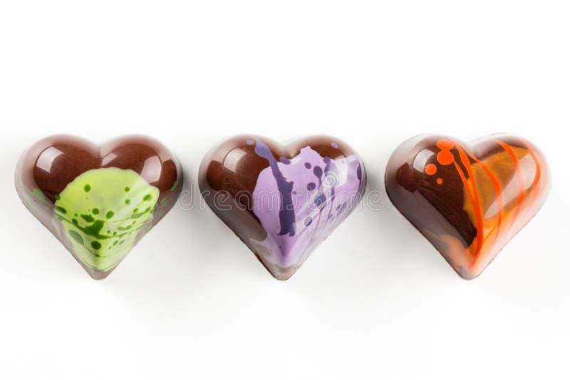 Caramelle a forma di del cuore immagini stock