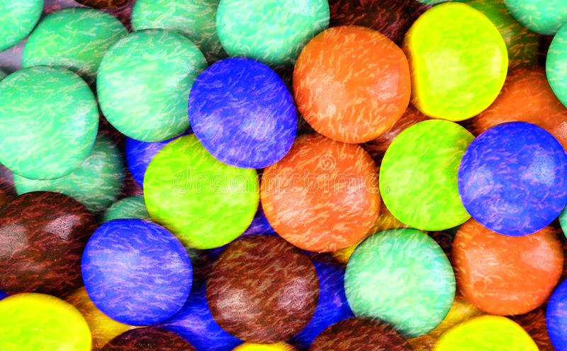 Caramelle rivestite dello zucchero multicolore fotografia stock libera da diritti