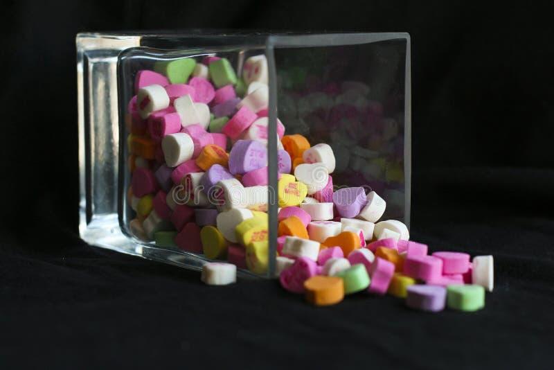 Caramelle rovesciate fotografia stock