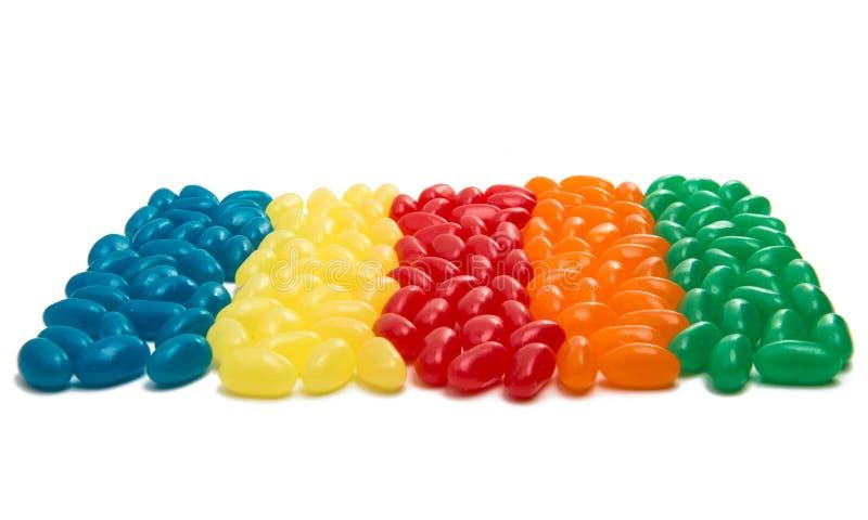 Caramelle variopinte dolci dei fagioli di gelatina fotografie stock libere da diritti