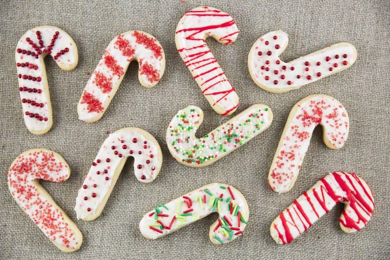 Caramelo Cane Sugar Cookies imagenes de archivo