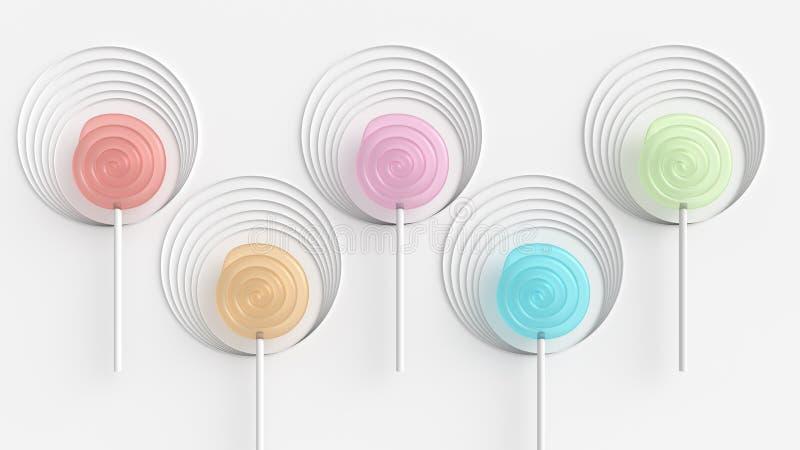 Caramelo coloreado stock de ilustración