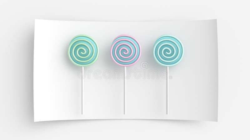Caramelo coloreado ilustración del vector