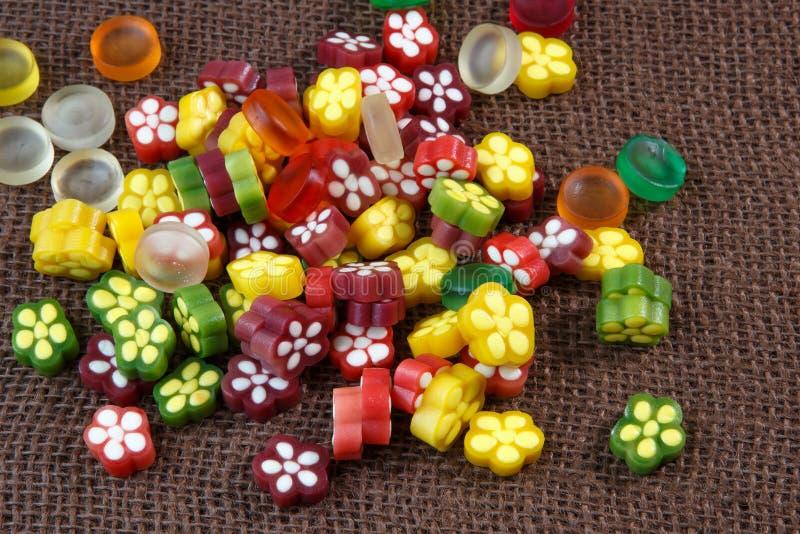 Caramelo colorido de la jalea de fruta fotografía de archivo