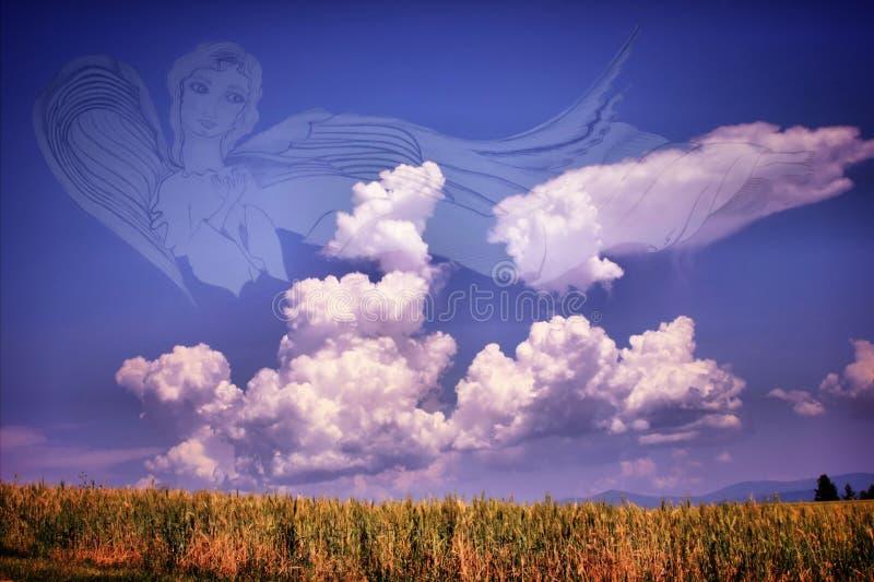 Caramelo de algodón del ` s del ángel imagenes de archivo