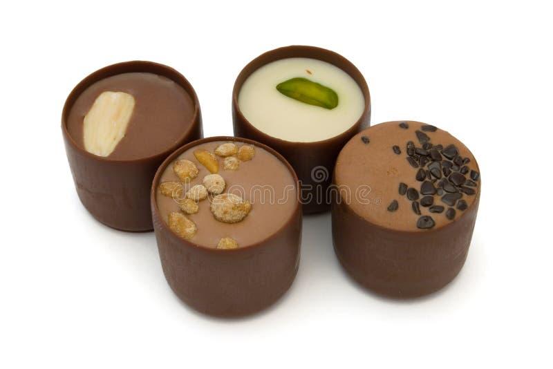 Caramelo de chocolate cuatro fotografía de archivo libre de regalías