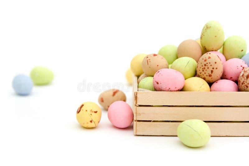 Caramelo de chocolate del huevo de Pascua fotos de archivo