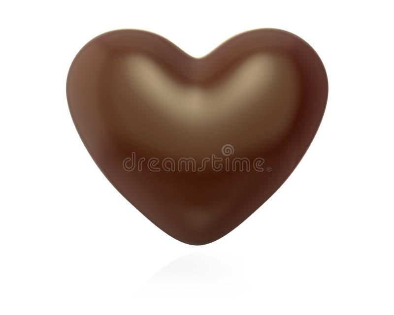 Caramelo de chocolate en forma de corazón libre illustration
