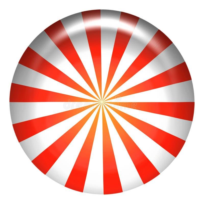 Caramelo de hierbabuena stock de ilustración
