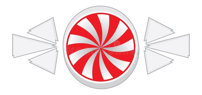Caramelo de hierbabuena ilustración del vector