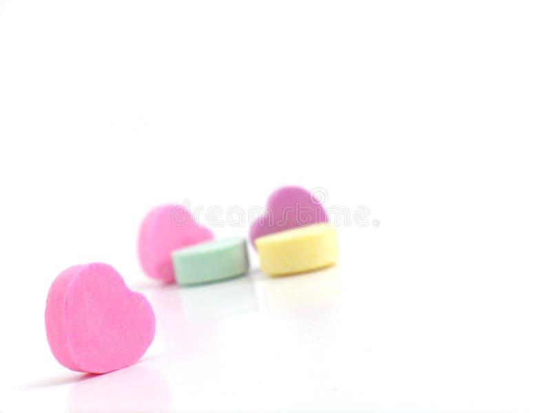 Caramelo de la tarjeta del día de San Valentín fotos de archivo
