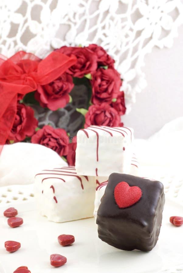 Caramelo de las tarjetas del día de San Valentín imágenes de archivo libres de regalías