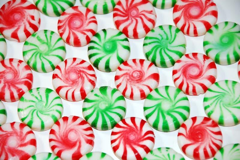 Caramelo de menta de la Navidad fotografía de archivo