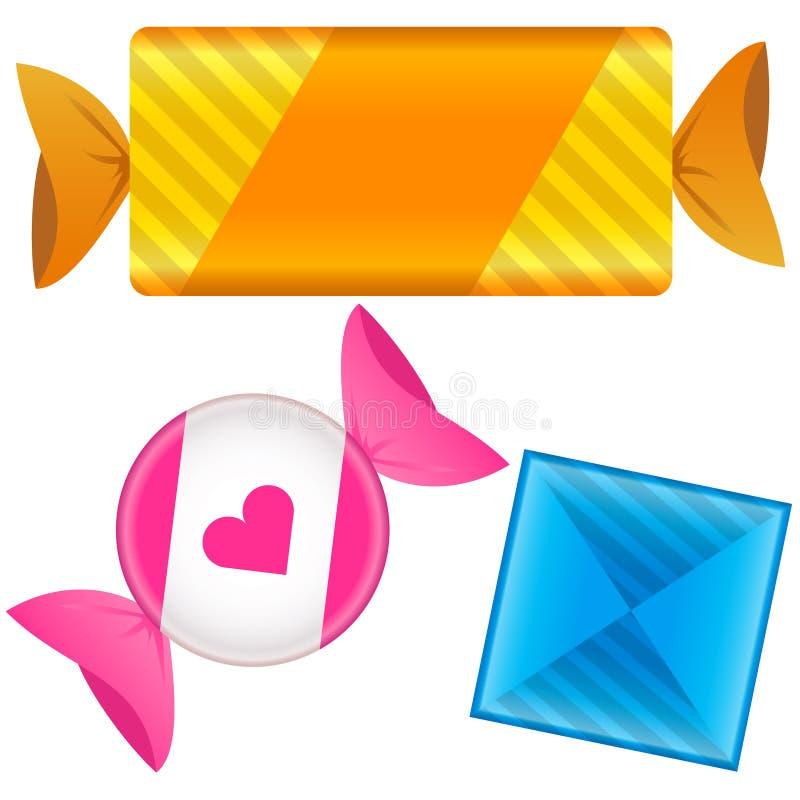 Caramelo del caramelo o del caramelo stock de ilustración