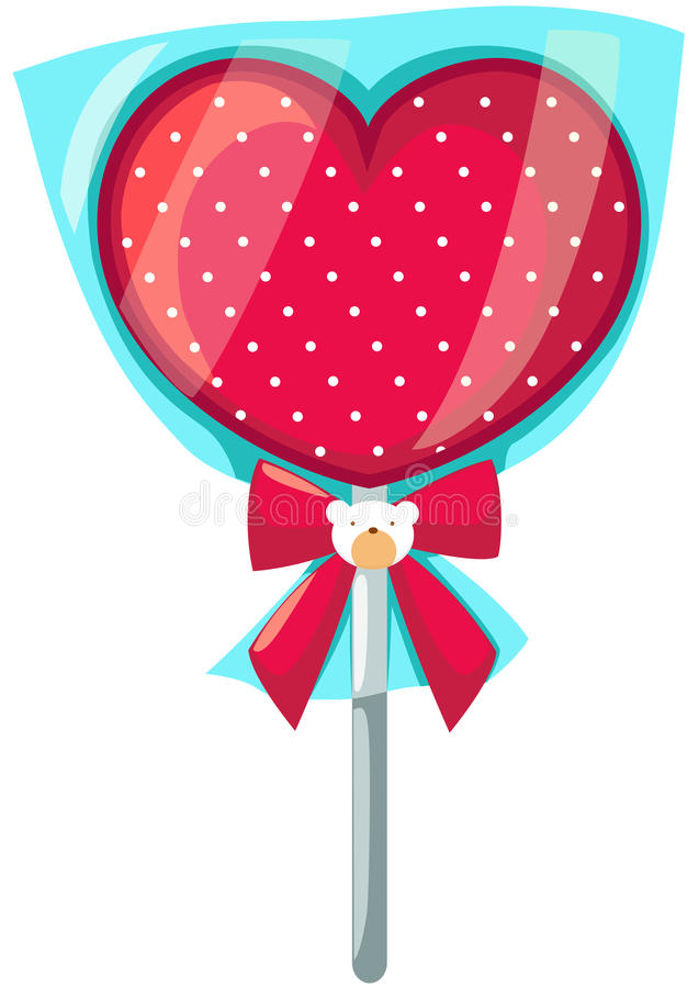 Caramelo del corazón ilustración del vector