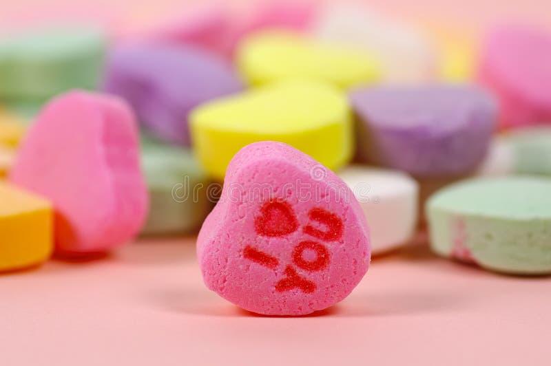 Caramelo del corazón fotos de archivo