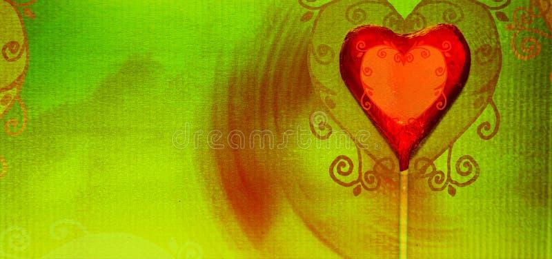 Caramelo del corazón de Grunge fotografía de archivo