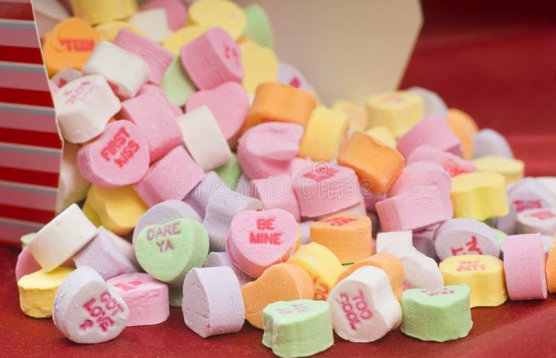 Caramelo del día de tarjeta del día de San Valentín fotos de archivo libres de regalías