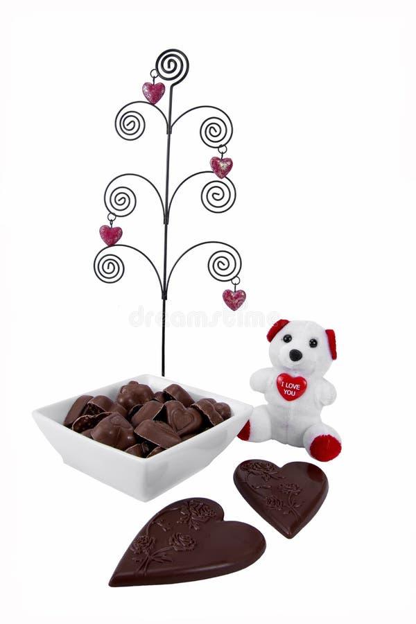 Caramelo del día de tarjetas del día de San Valentín fotografía de archivo