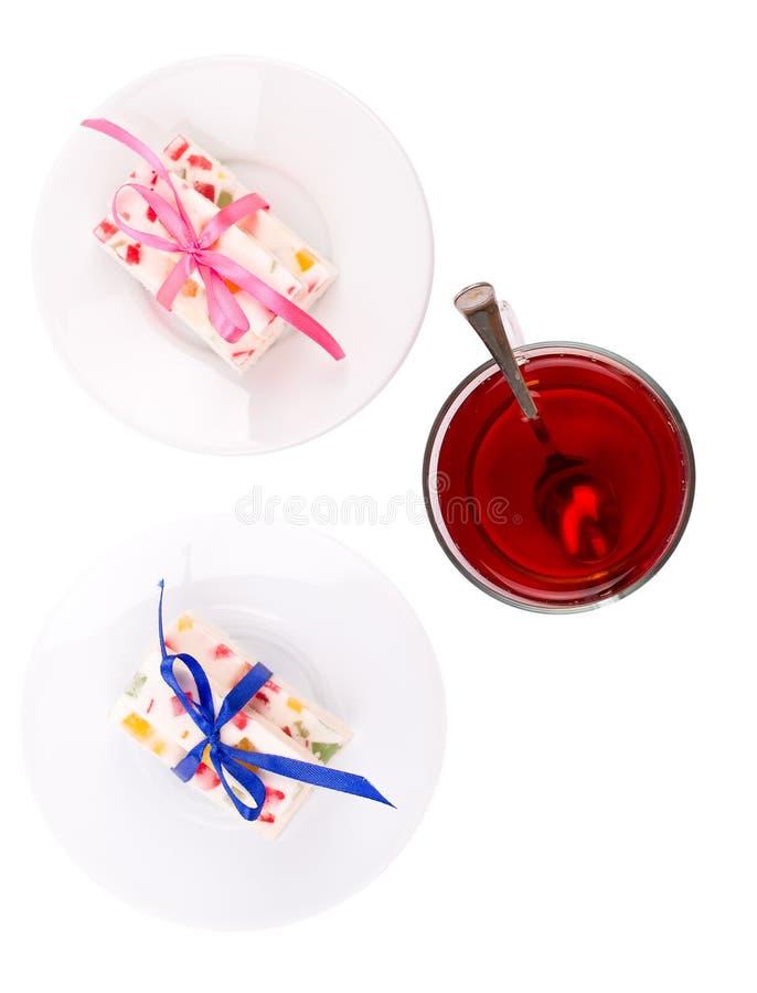 Caramelo del té y de la fruta fotografía de archivo libre de regalías