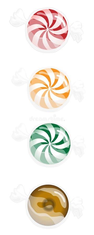 Caramelo duro ilustración del vector