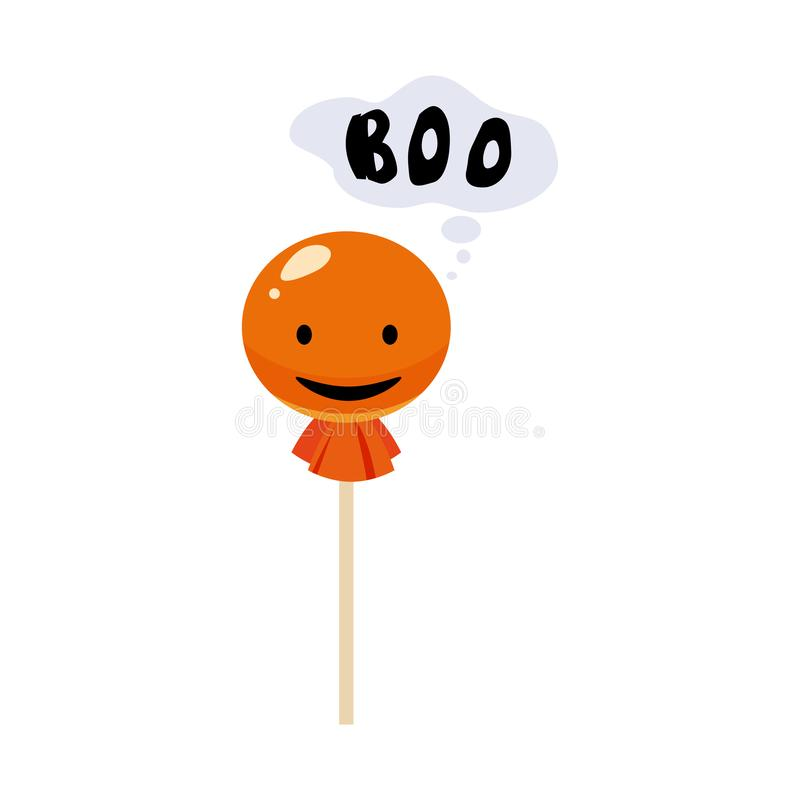 Caramelo, piruleta, día de fiesta Halloween, carácter Halloween, cualidad, icono, vector, ejemplo, aislado, styyle de la historie libre illustration