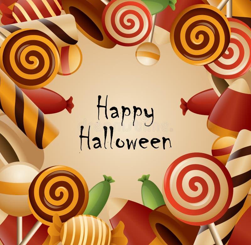 Caramelo recogido tema del feliz Halloween libre illustration