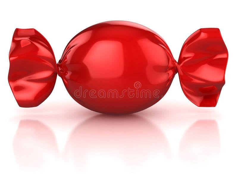 Caramelo rojo ilustración del vector