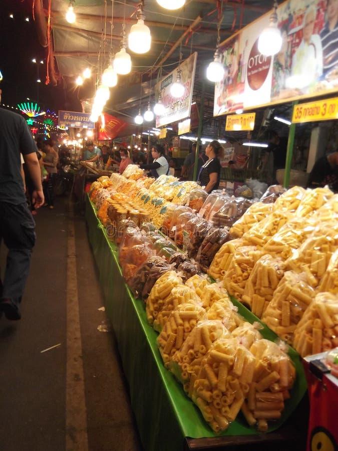 Caramelo tailandés, comida de la calle, festival de Buda, Samutprakarn, Tailandia foto de archivo libre de regalías
