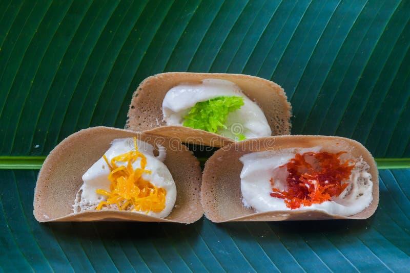 Caramelo tailandés Kanom Buang imagen de archivo libre de regalías