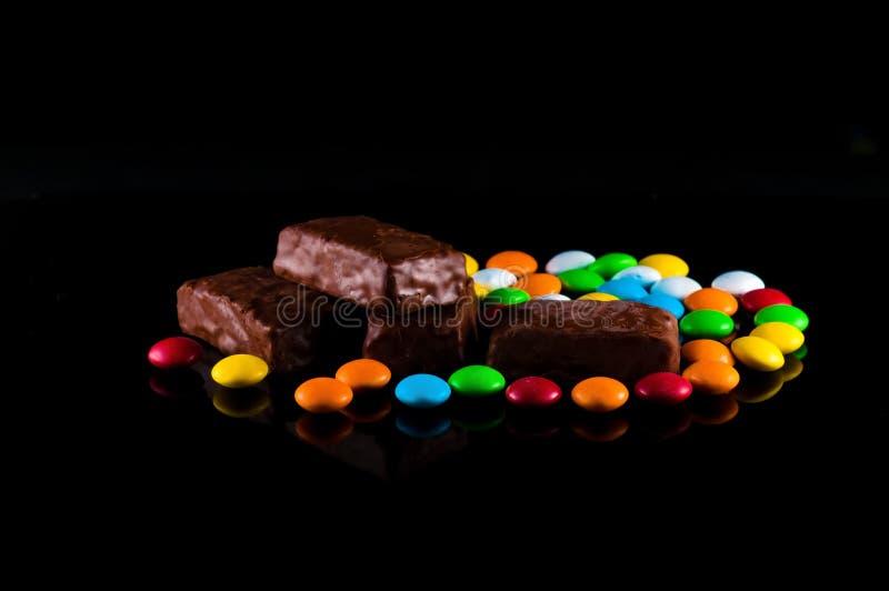 Caramelo y chocolate fotografía de archivo libre de regalías