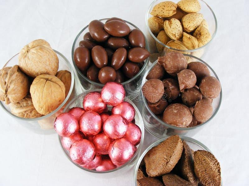 Caramelo y tuercas #2 foto de archivo