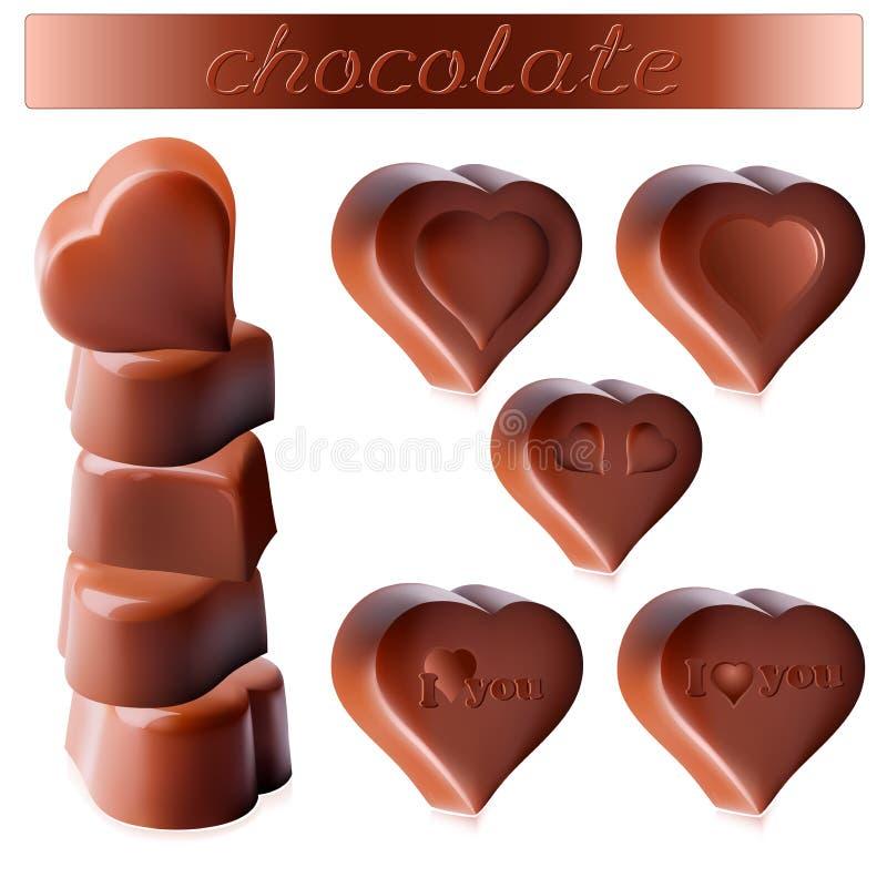 Caramelos de chocolate stock de ilustración