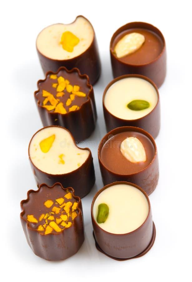 Caramelos de chocolate fotografía de archivo