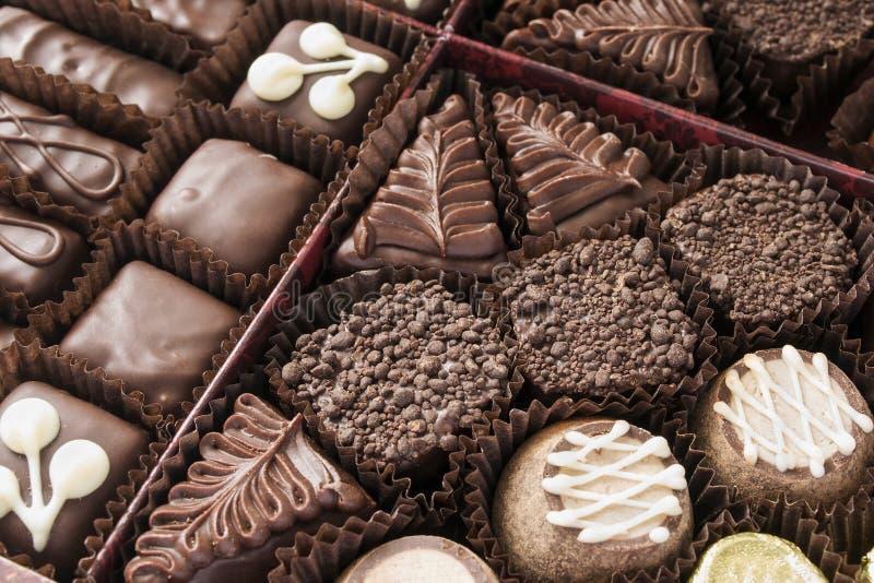 Caramelos de chocolate imagen de archivo libre de regalías