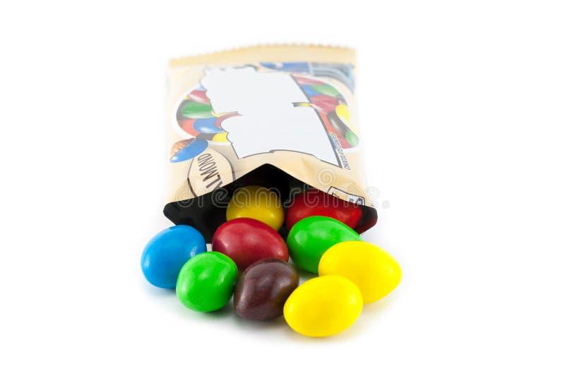 Caramelos de chocolate clasificados del cacahuete fotos de archivo libres de regalías