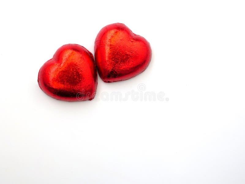 Caramelos de chocolate en forma de corazón foto de archivo libre de regalías