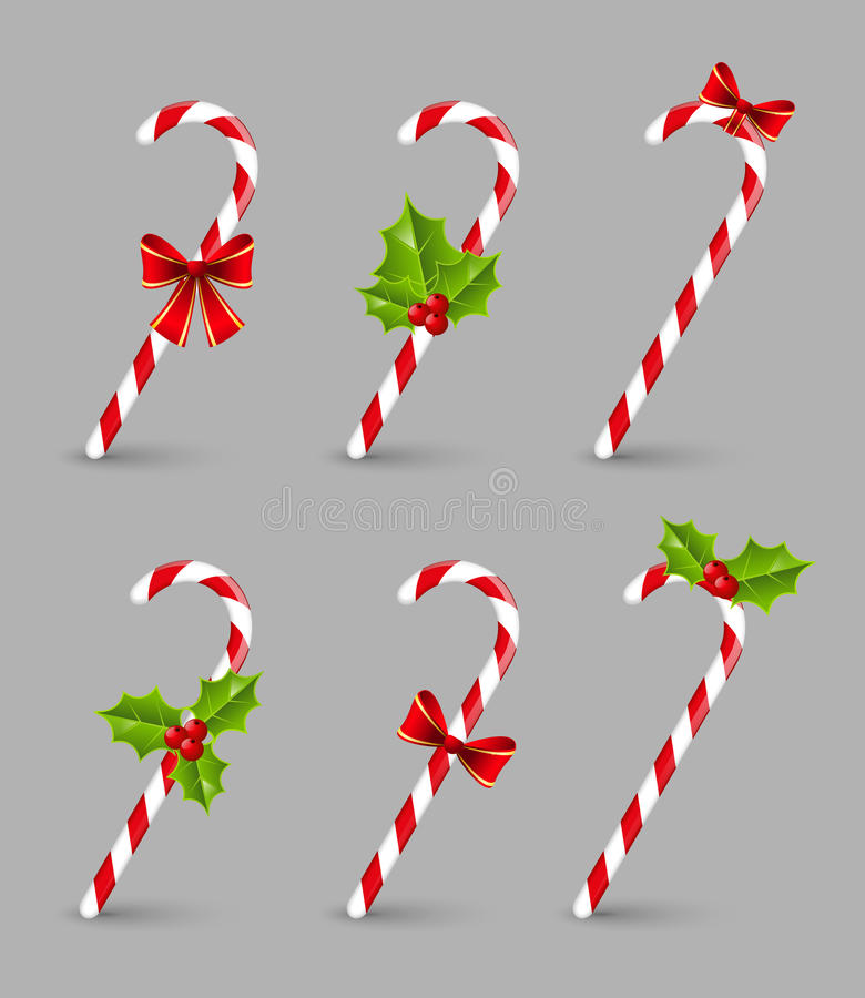 Caramelos de la Navidad stock de ilustración