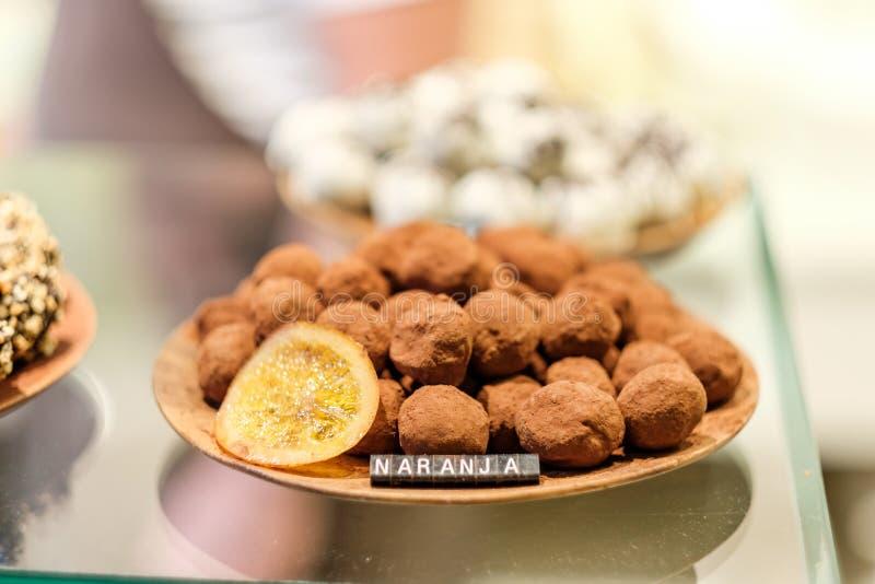 Caramelos de la trufa de chocolate imagen de archivo libre de regalías