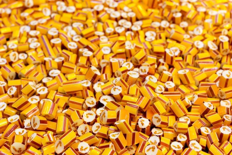 Caramelos en fábrica del caramelo foto de archivo libre de regalías