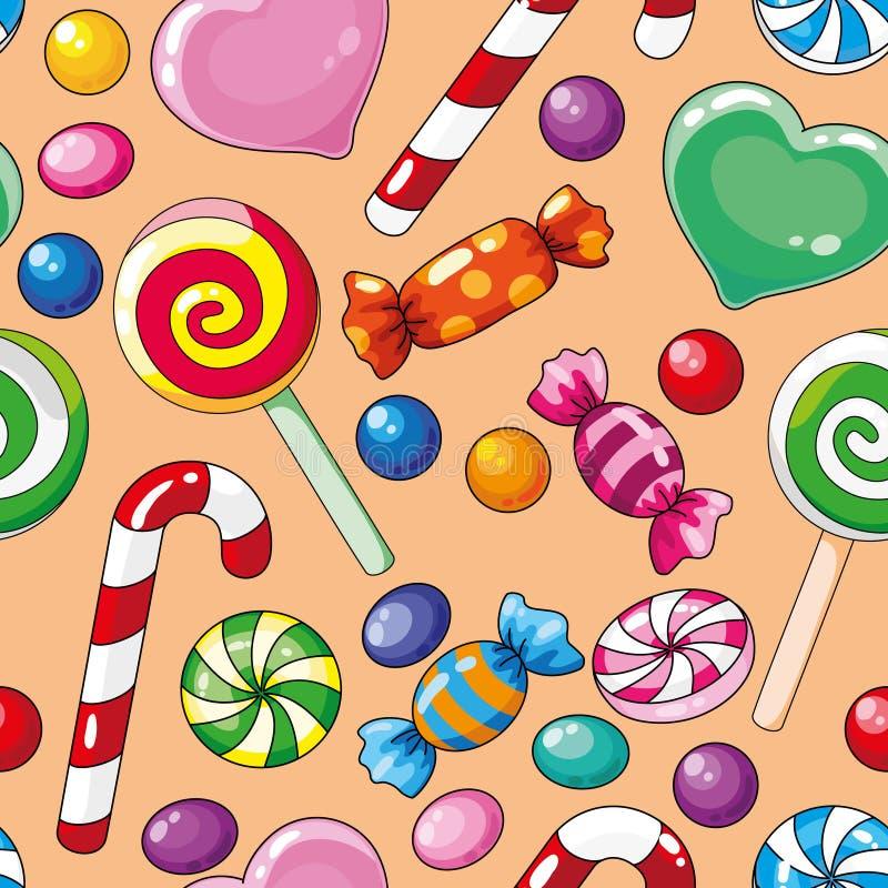 Caramelos inconsútiles del modelo libre illustration