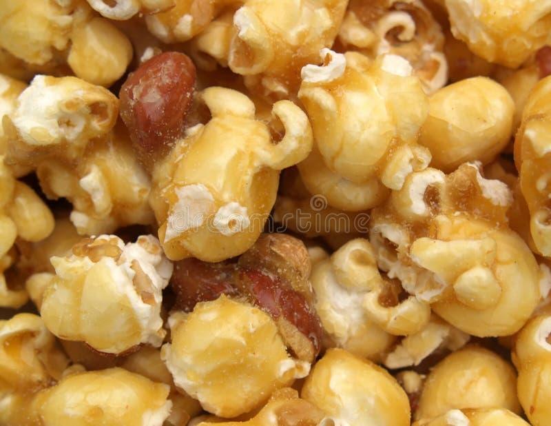 caramelpopcorn royaltyfri bild