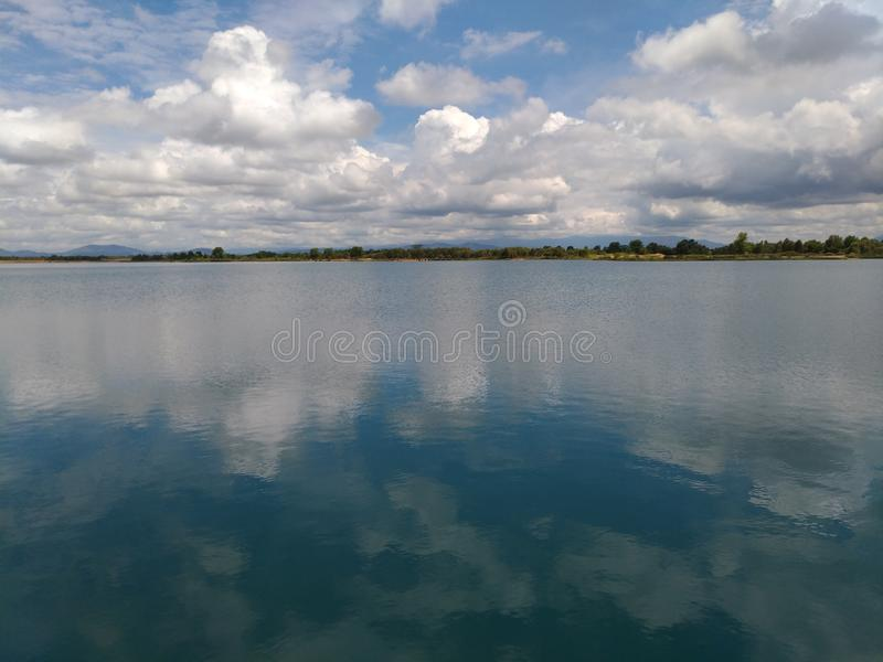 Caramin湖 库存照片