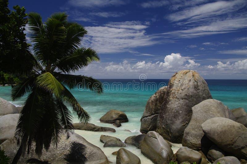 Carana海湾, Mahe,塞舌尔群岛 免版税库存照片