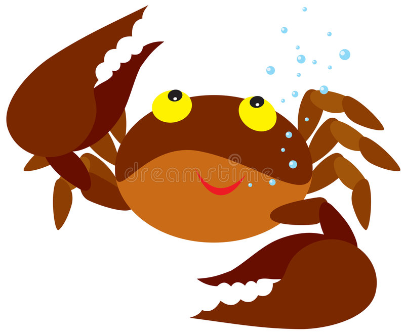 Caranguejo ilustração stock