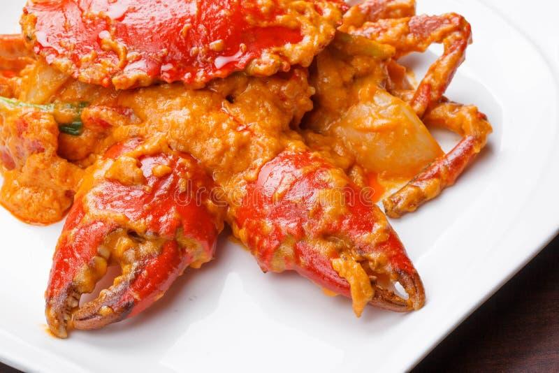 Caranguejo fritado com caril fotografia de stock royalty free