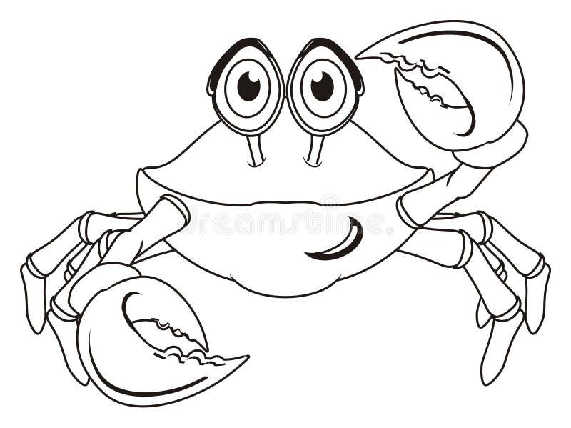 Caranguejo não colorido ilustração stock
