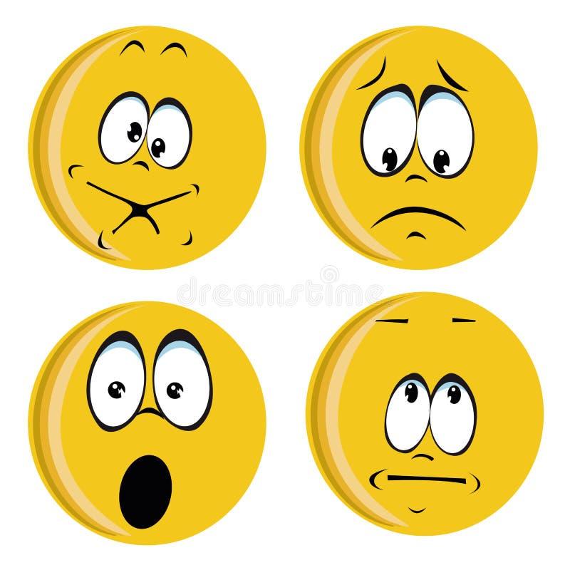 Caras amarillas ilustración del vector