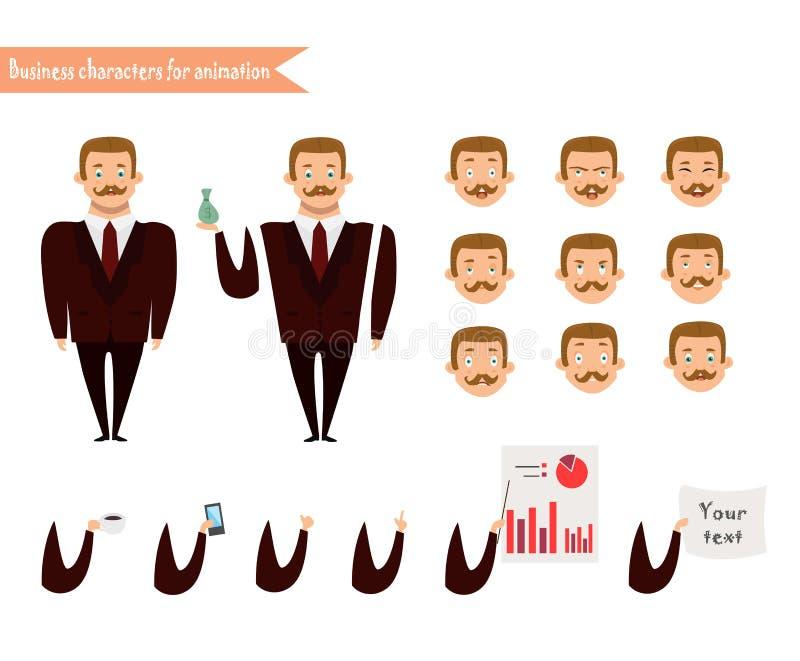 Caras da emoção Emoji enfrenta ícones ilustração stock
