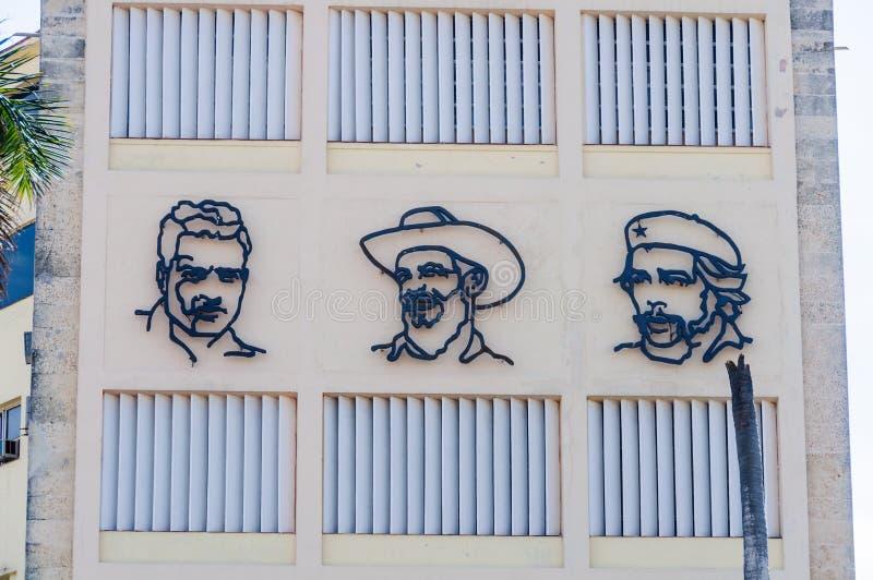 Caras da revolução em Havana, Cuba foto de stock